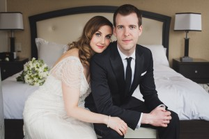 Bride and groom portrait on their wedding day