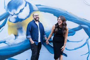 Montreal couple, graffiti montreal, couple engagement photoshoot