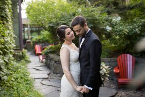 Bride and groom couple sumer portrait