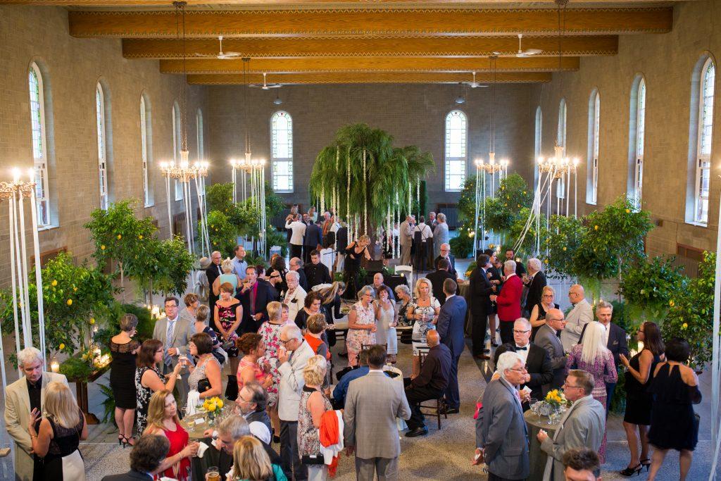 overhead photo of cocktail at abbaye, oka