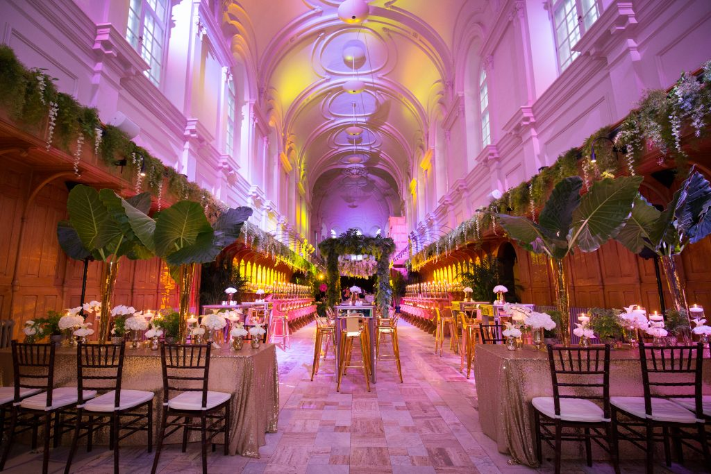 Catherdral transformed into a reception hall at abbaye, oka
