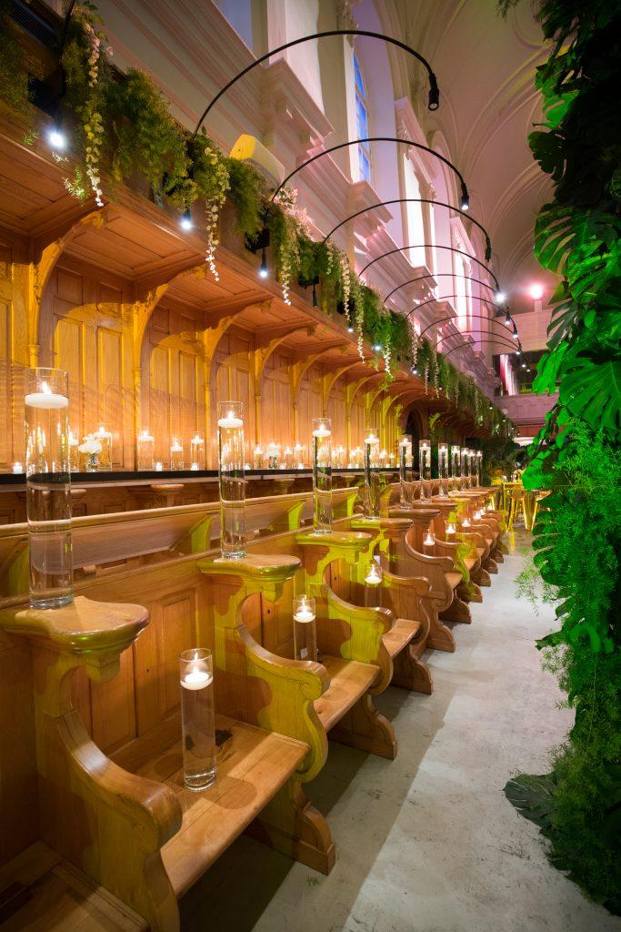 Abbaye D'oka reception hall decor