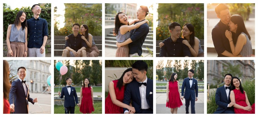 Engagement photos in the old port Montreal